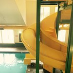 The pool is great there is a inside waterslide