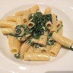 Rigatoni mit Gorgonzola-/Spinat-Sauce