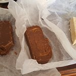 Not 1 not 2 but 3 slabs of fudge. It is the best fudge i have ever had  .The people who work her