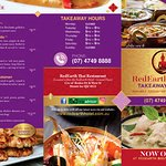 RedEarth Thai Takeaway Menu 1