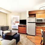 Two Bedroom Suite Living Area and Kitchen