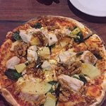 Chicken, pineapple, spinach, fetta and honey walnuts. Bellissimo!!