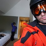 Getting ready to hit the mountain.This is the perfect hotel for a ski vacay.The location is amzi
