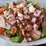 Seafood salad with fake krab.