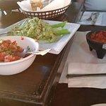 Fresco salsa and regular salsa.