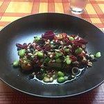 Fish Lane Bistro - cauliflower steak Main and lime panacotta for Dessert
