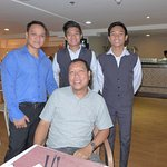 With Oliver & staff@A Venue hotel