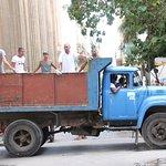 Vintage truck used for people transport