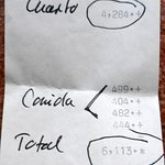 """la """"facture"""" finale : paiement en espèces..."""