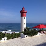 View from the swimming pool at The Oyster Box, Umhlanga Rocks