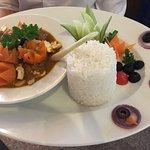 Amazing salad and chicken cashew nut