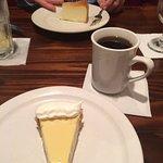 cheese cake, key lime pie and fresh coffee