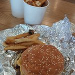 Little cheeseburger and little fries
