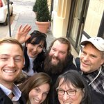 Our family with Amira in Rome at the end of our tour. She's fantastic!!