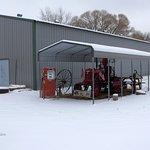 Farmall in winter.