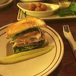 Half sandwich of Texas Turkey Club