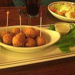 Sauerkraut balls with honey mustard sauce