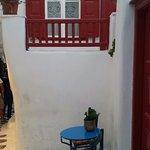 a cosy corner in Mykonos Town