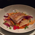 Flounder with celery root, meyer lemon and carrot