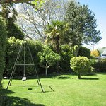 Garden area with swing.