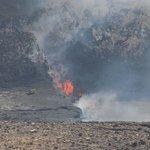 Volcano National Park - active lava flow