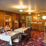 Dining inside at Morrisons Lodge