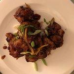 Orange cauliflower. They should call it General Tso's or sweet and sour cauliflower, tastes bett