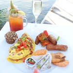 Wow what a brunch! Omelettes made to order, Sushi, a chilled Seafood Bar, wonderful breakfast po