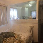 Shabby and small, but clean. Great for the price if you do not have high expectations. Pictures