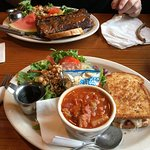 Ribs, Reuben and Manhattan Clam Chowder.