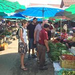 Selecting the ingredients in the Market in Luang Prabang