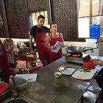 Teaching at Tamnak Lao in progress