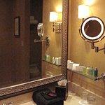 Planters Inn - Room 105 Bathroom lighted vanity mirror