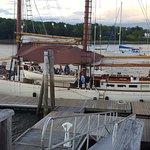 Schooner charter in Belfast Bay coming in to dock