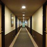 Walkway to rooms