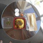 Delicious Chicken Biryani from room service.