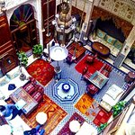 Our courtyard at Riad Verus, light, bright and full of life