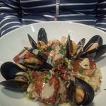 Risotto with mussels and scallops