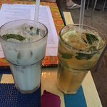 Coconut and Passionfruit Mojitos