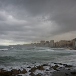"""sea side from the """"corniche"""" promenade"""