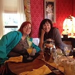 Photo of Gals who played Mary Queen of Scot at the Celtic festival in 11/16 breakfast room