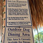 Doggy dining allowed!