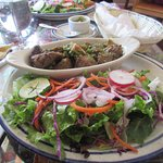 My lamb with salad from Peru
