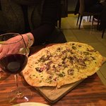 A fun pizza tapa for two!