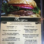 Some of the great burgers to choose from