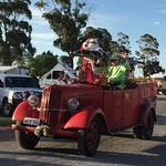 Xmas in the park the kids love it   Thanks to the rural fire brigade