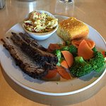 1 Meat Beef Brisket Meal With Two Sides