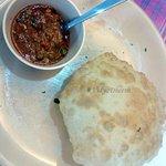 Kurma Puri, served in the complimentary breakfast