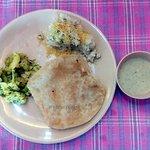 Upma & Puri Bhaji, served in the complimentary breakfast