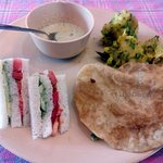 Veg Sandwich, served in the complimentary breakfast